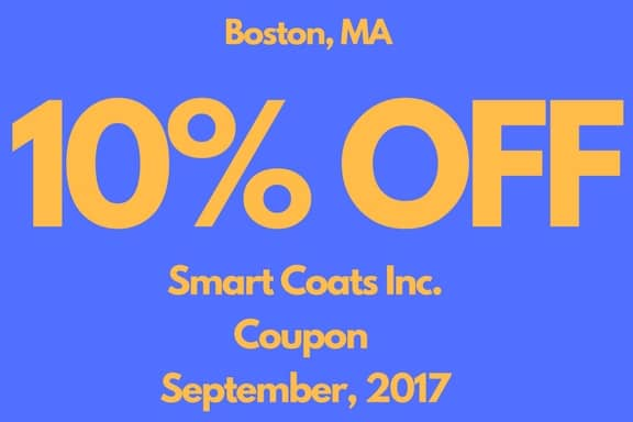 Smart Coats Inc Boston September Coupon