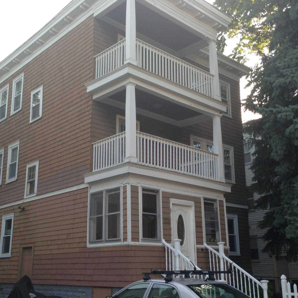 Exterior painting project in Boston