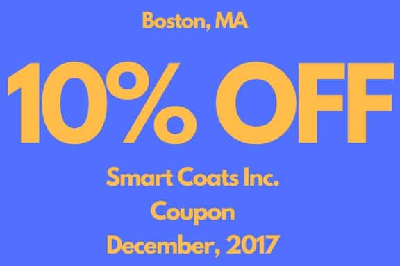 Smart Coats Inc Boston December Coupon